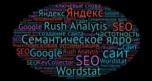 Составление семантического ядра с помощью сервиса Rush Analytics